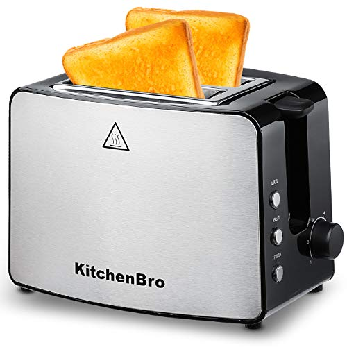 (Toaster 2 Slice, Compact Bread Toasters Stainless Steel Housing best rated prime, 2 Extra Wide Slots )