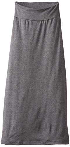 Amy Byer Spandex Skirt (Amy Byer Girl's 7-16 Solid Maxi Skirt, Grey, Large)