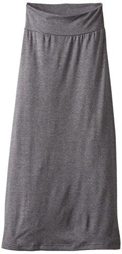 Amy Byer Spandex Skirt - Amy Byer Girls' 7-16 Full-Length Maxi Skirt, Gray, Medium