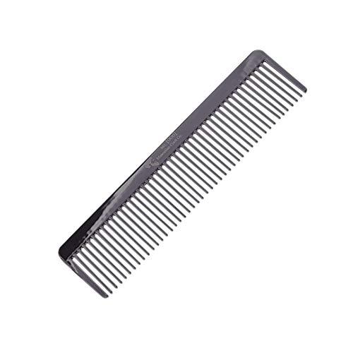 Masculine Craft Gunmetal Beard Comb | Anti Static Fine to Medium Metal Hair Comb for Men | Heavy Duty Professional Beard Grooming Comb (Gunmetal)