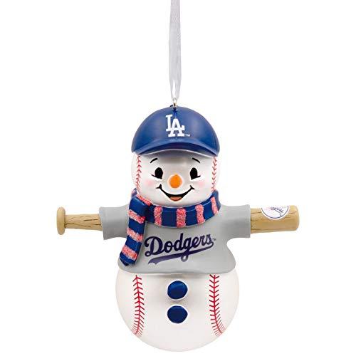 Mlb Baseball Snowman Ornament - Hallmark MLB Los Angeles Dodgers Snowman Ornament Sports & Activities,City & State