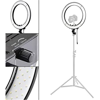 Amazon Com 18 Quot Led Video Ring Light With Mirror 6ft