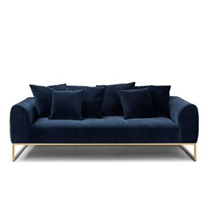 Amazon.com: MIKEWEI Light Luxury Fabric Sofa Velvet ...