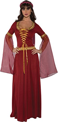 [Underwraps Costumes Women's Renaissance Queen Costume - Maiden, Burgundy, Small] (Medieval Queen Plus Size Costumes)