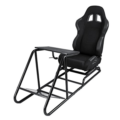 Price comparison product image Mophorn Racing Simulator Seat Adjustable Driving Gaming Reclinable Seat with Gear Shifter Mount for PS4 PS3 Xbox Play Station Consoles