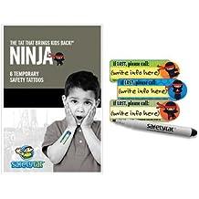Quick Stick Write-on! Child ID Tattoos (Ninja 6pk.)