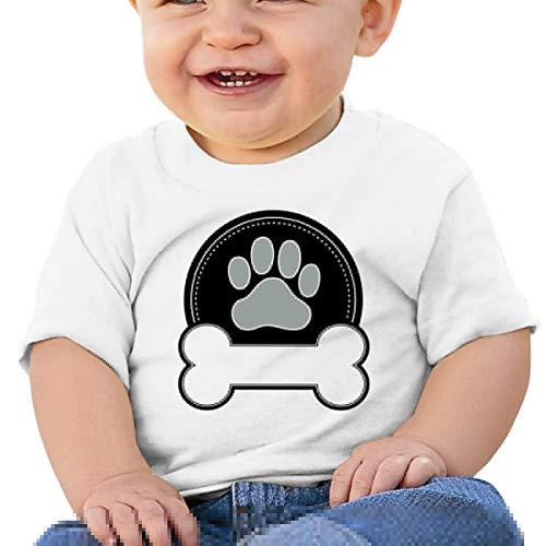 - Moniery Dog Bones & Paw Short-Sleeves T Shirt Baby Boys Toddler White