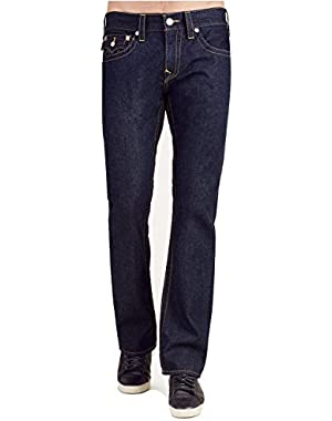Men's Straight Relaxed Fit Jeans in Body Rinse!