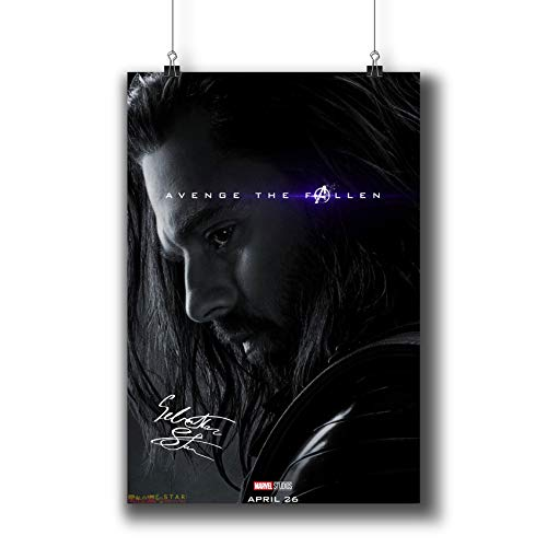Signed Soldier - Avengers: Endgame (2019) Movie Poster Small Prints 183-331 Winter Soldier Reprint Signed Casts,Wall Art Decor for Dorm Bedroom Living Room (A3|11x17inch|29x42cm)
