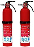 First Alert HOME1 ABC 2.5 Pound Rechargeable Fire Extinguisher - HOME1-1-a B:C - 10 -Year Warranty, 1 Pack (2 Pack)