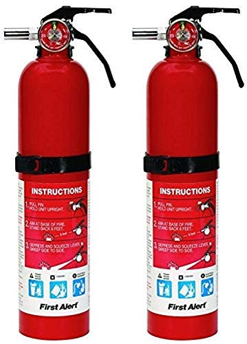 First Alert HOME1 ABC 2.5 Pound Rechargeable Fire Extinguisher - HOME1-1-a B:C - 10 -Year Warranty, 1 Pack (2 Pack) by First Alert