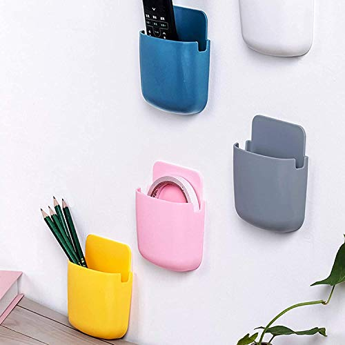 Round/Square Wall Mounted Remote, Toothbrush, Mobile Phone with Plug Organizer GEM'S ICON~GI Mobile Gadgets(Multi_Colour…