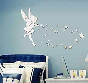 Acrylic 3D angel star wall stickers living room bedroom TV background decoration