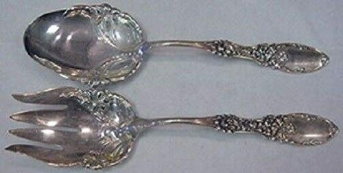 - Tyrolean By Frank Whiting Sterling Salad Serving Set w/Lilies on Shoulders 2pc