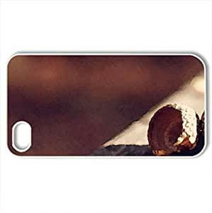 Acorn Shells - Case Cover for iPhone 4 and 4s (Winter Series, Watercolor style, White)