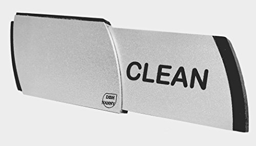 Bonus Dishwasher Magnet Clean Dirty Sign   Metal Contemporary Indicator - Best Kitchen Gadgets for All Dishwashers - For Home or Chore Organization Using Padded Magnets or 3M Tabs (Black Lettering)