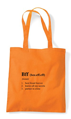 Bff The Shopper Dictionary Tote Not Funny Bag Orange In Alternative Definition xrAwXUPx
