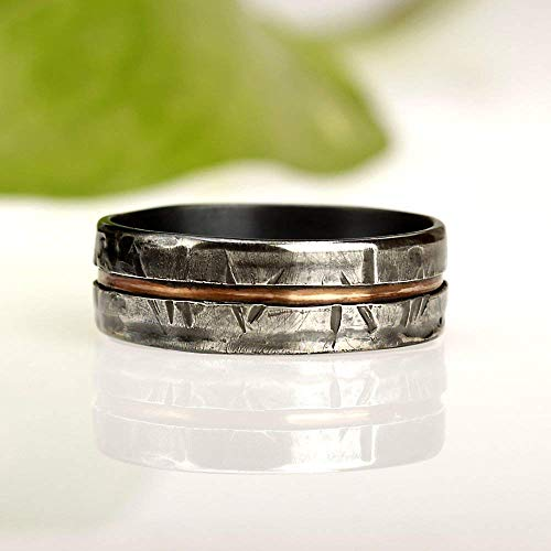 Amazon Com Rustic Men S Ring Unique Men S Ring Man S Wedding