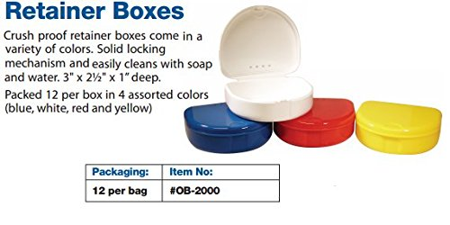 Defend Retainer Box, Orthodontic Mouthguard Storage Case, Assorted Color (120pcs) by DEFEND (Image #2)