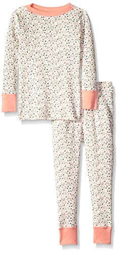 - Moon and Back Organic Two-Piece Pajamas, cat Print, 4T