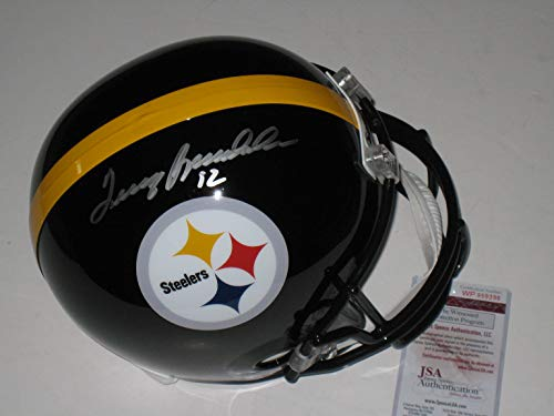 f49edef41 Terry Bradshaw #12 Autographed Signed Pittsburgh Steelers Full Size Replica  Helmet - JSA COA
