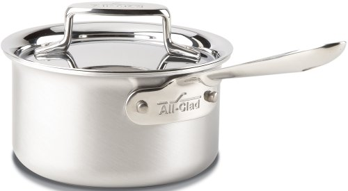 5 Brushed 18/10 Stainless Steel 5-Ply Bonded Dishwasher Safe Sauce Pan Cookware, 1.5-Quart, Silver ()