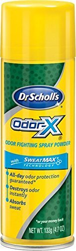 Dr. Scholls Odor X With Sweatmax Spray Powder 4.7 Ounce (139ml) (3 Pack)