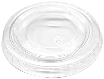 "IFN Green 25-1162-N Green Ease PLA Flat Lid, 2.44"" Diameter x 0.29"" Height, For 2 oz Portion Cup (Case of 2000)"