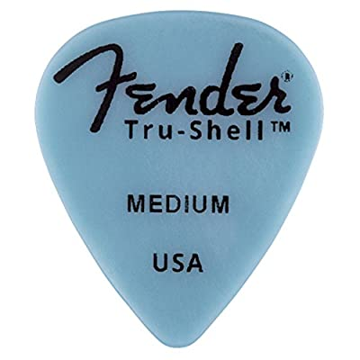 Fender 351 Shape Picks, Tru-Shell, Medium for electric guitar, acoustic guitar, mandolin, and bass from Fender Musical Instruments Corp.