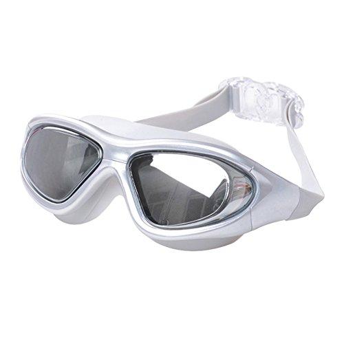 Natación De Natación Grande Plata Impermeable Plano Chapado Gafas De Marco HD Lente La QY Antivaho Y De Espejo Gafas xIw5ZfacqW
