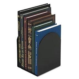 Universal UNV54071 Bookends Magnetic 6quot; x 5quot; x 7quot; Metal 1 Pair, Black