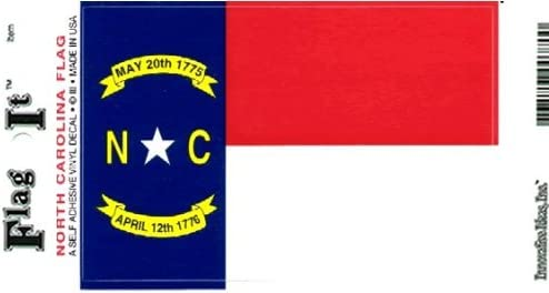 Truck or Boat North Carolina Flag Decal for auto