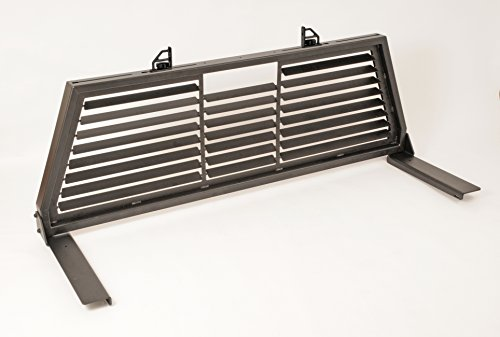 Pickup Headache Rack - Dee Zee DZ95050WSLB Black Steel Louvered Cab Rack