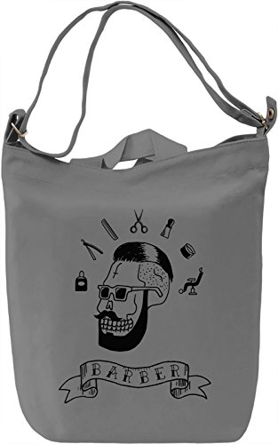 Barber Borsa Giornaliera Canvas Canvas Day Bag| 100% Premium Cotton Canvas| DTG Printing|