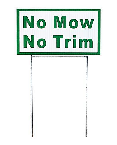 (JED's No Mow No Trim Vinyl Yard Sign 2 Pack)