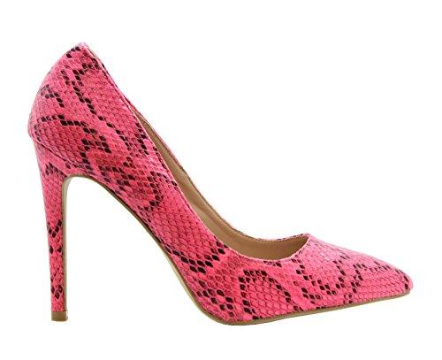 Print Stiletto Party Snake Heels Womens STYLES Damen Smart Arbeit Größe Schuhe Pumps Hohe SAUTE Spitze Rosa Court vqwaITq