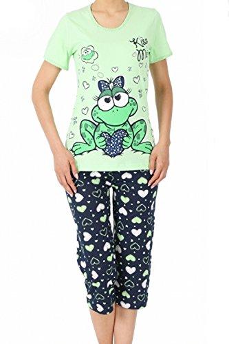 Damen Schlafanzug Frosch Capri