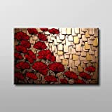 Zingcord Modern Stretched Flowers 100% Hand-painted Oil Painting on Canvas Wall Art Deco Home Decoration Ready to Hang