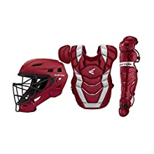 Easton Elite X Baseball Catchers Equipment Box Set | Adult | Cardinal | 2020 | Large Helmet | Chest Protector w/Commotio Cordis | Leg Guards | NOCSAE Approved All Levels of Play