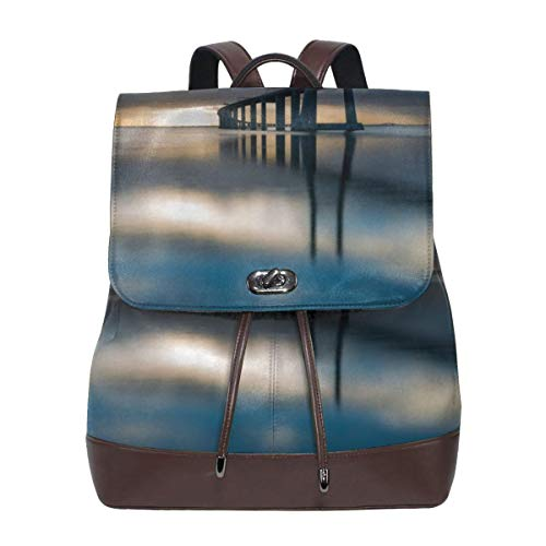 - Oximing Bridge Lisbon Portugal At Sunrise Women's Leather Shoulder Bag, Outdoor Bag And Schoolbag