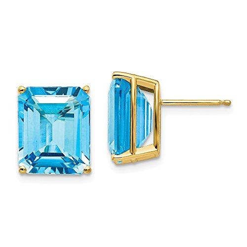 rald Green Cut Blue Topaz Earrings (Blue Topaz Faux Earrings)
