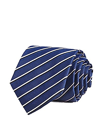 Boss Triple Track Stripe Classic Tie (Blue, One Size)