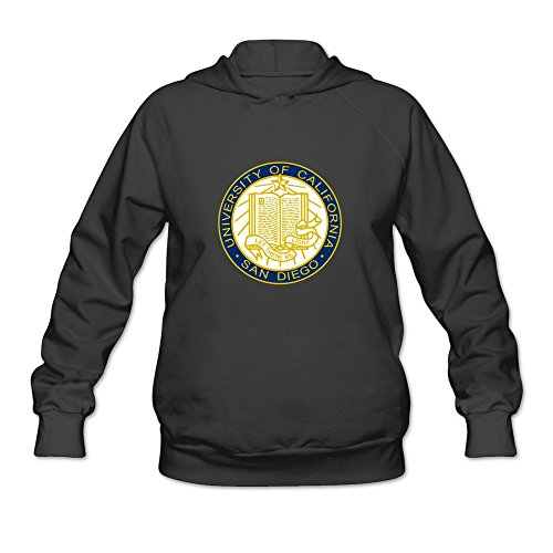 UCSD Seal Retro 100% Cotton Black Long Sleeve Sweatshirts For Women