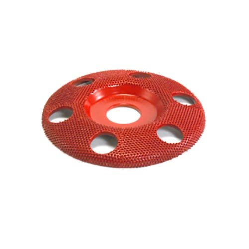 4'' Disc Wheel W/ Holes Flat Face (Medium Grit) 7/8'' Bore by Saburr Tooth