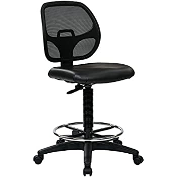 This item Office Star Deluxe Mesh Back Drafting Chair with 18 5 Inch  Diameter Adjustable Footring  Black Vinyl SeatAmazon com  Office Star Deluxe Mesh Back Drafting Chair with 18 5  . Office Star Height Adjustable Drafting Chair With Footring. Home Design Ideas