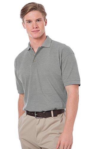 Blue Generation BG2201 Short Sleeve Cotton Polos-Polo Shirts (L, Heather_Grey)