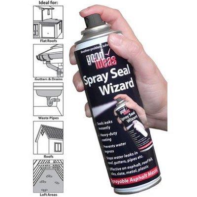 Good Ideas Sealing Spray n Seal Leak Stop (693S) Black Asphalt Mastic  Sealant  Stop Leaks Fast