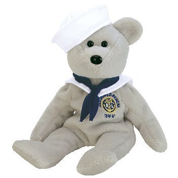 TY Beanie Baby - RONNIE the Sailor Bear (USA Exclusive) - Navy Bear