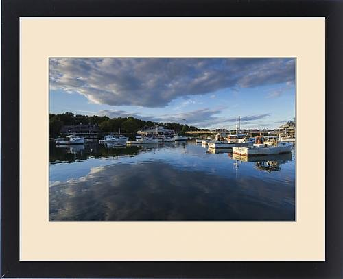 Framed Print of USA, Maine, Ogunquit, Perkins Cove, boats in a small harbor by Fine Art Storehouse