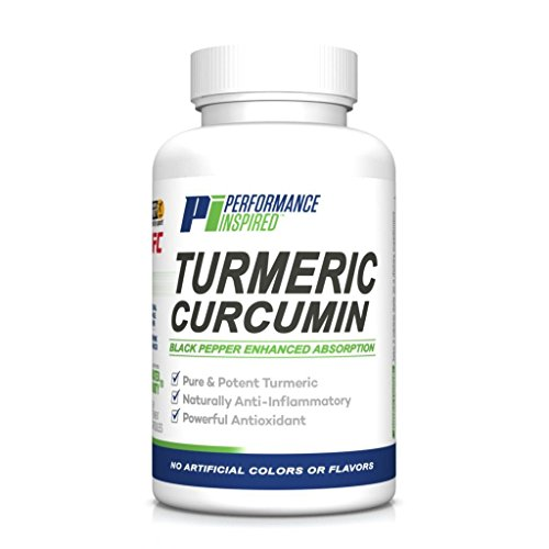 Performance Inspired Nutrition Turmeric Curcumin, 60 Count